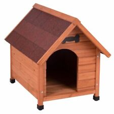 Hundehütte Hundehaus Wetterfest Hunde Haus Höhle Spitzdach Holz Outdoor Garten