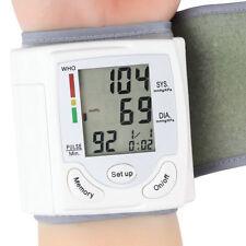 Digital LCD Wrist Blood Pressure Monitor Heart Beat Rate Pulse Meter Measure L8