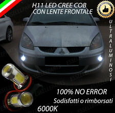 COPPIA LUCI FENDINEBBIA H11 LED CREE COB CANBUS MITSUBISHI COLT MK6 6000K