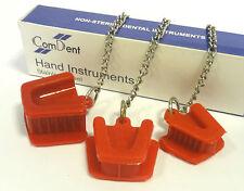 3 piezas dentales de silicio de Boca con Lengua Guardia Bite Bloque Rojo cadena libre de látex