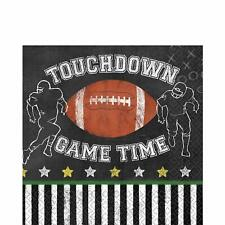 Game Time Football Super Bowl Day Sports Theme Party Paper Luncheon Napkins