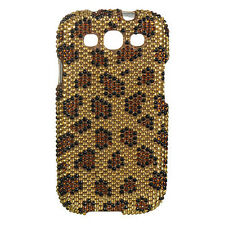 Samsung Galaxy S III 3 Crystal Diamond BLING Hard Case Phone Cover Leopard Luxmo