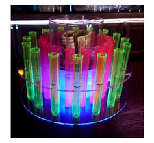 LED Color Light Up Tray shot tray round RGB serving tray Test Tube tray