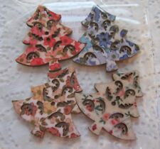 Wooden Buttons!  XMAS THEME!! LARGE XMAS TREE !!!  **NEW**