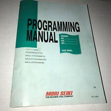 Mori Seiki Cnc Lathe Operation Manual O0200 N1 N2 N3 N20 M99