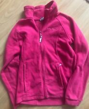 Columbia Soft Fuzzy Pull Over Jacket Pink Polar Fleece Teen size 14/16