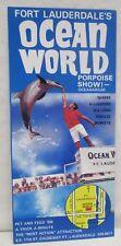 Vintage Fort Lauderdale Florida Ocean World Brochure Porpoise Show Oceanarium