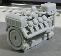 O Scale 1380HP V8 Diesel Turbocharged Aftercooled Industrial Engine Model GREY