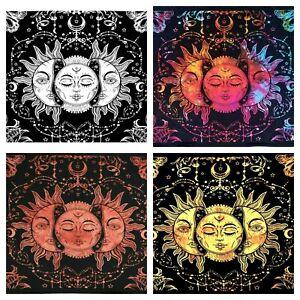 Tarot MultiColor Sun Cotton Wall Hanging Poster Tapestry Hippie Bohemian Mandala