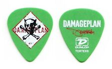 Damageplan Dimebag Darrell Signature Green Guitar Pick - 2004 Tour Pantera