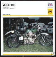 1961 AJS 7R Boy Racer 350cc A.J.S 7-R British Motorcycle Photo Spec Sheet Card