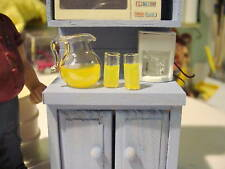 Lemonade Pitcher w/2 Glasses - Glass - 1/18 Diorama