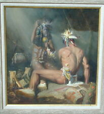 Buck McCain Indian and Shaman  in Teepee