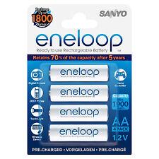 4 baterías AA sanyo Panasonic Eneloop 1900 mAh Batería citado