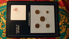 Coin Sets of All Nations Norway UNC w/card 1, 5, 10 Kroner 50, 10 Ore all 1983