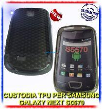 Custodia +Pellicola EXA NERA FUME per Samsung S5570 galaxy NEXT (B4)