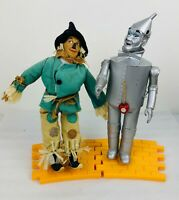 Vintage 1987 Turner Presents Wizard of Oz TinMan & Scarecrow Dolls w/ Road Stand