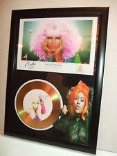 nicki minaj    SIGNED  GOLD CD  DISC  915