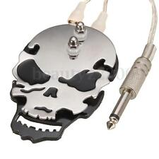 Professional Skull Tattoo Pedal Machine Power Supply Foot Switch Stainless Steel