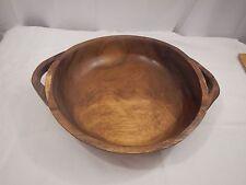"Antique Vintage hand hewn wood bowl 16 1/2"""