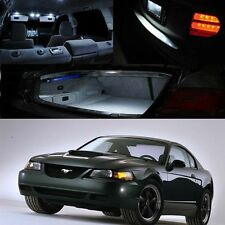 For 99-04 Ford Mustang Xenon White LED Interior Light Bulb Deal Package Kit