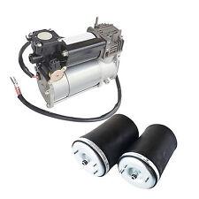 PAIR Rear Air Spring Bag 37121095580 & Air Compressor Pump for BMW E53 X5 3.0i
