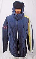 Vintage Nautica XCVI Sailing Jacket Coat Full Zip Hidden Hoodie XL