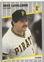 FREE SHIPPING-MINT-1989 Fleer Mike LaValliere #213 PIRATES PLUS BONUS CARDS