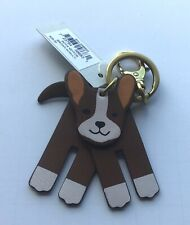 Fossil Sofia Dog Key Fob/ Ring 4 movable parts- browns white