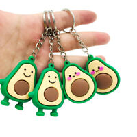 Fruit Avocado Smile-shaped Keyfob Keychain Keyring Jewelry Gift Key Chain Rin`ZT