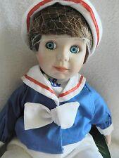 Precious Boy Doll Moments Treasured porcelain Billy Sailor Doll NIB certificate