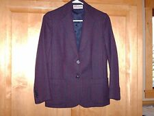 Foxcroft, Navy and Red striped, fitted, lined, wool blazer, jacket, 4, S