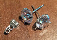 1 paire joyme Goujon argenté avec zirconium cubique oreille Bijoux Boucles
