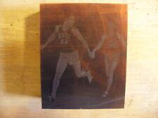 University of Iowa wins mile relay 1963 - Historic Iowa Printing Press Block