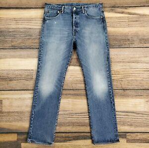 Levi's 501 Men's 34x32 Jeans Blue Button Fly Denim Straight