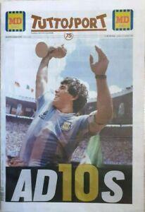 DIEGO ARMANDO MARADONA Italian Sport Newspaper TUTTOSPORT 26-11-2020