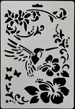 Hummingbird and Flowers Cake Stencil