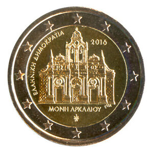 2 Euro Münze Griechenland 2016 Kloster Arkadi Gedenkmünze Sondermünze