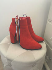 red heeled boots size 5