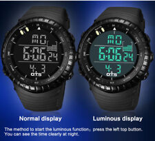 OTS Men Digital Sports Watches LED Military Army Black Waterproof Watches Gift