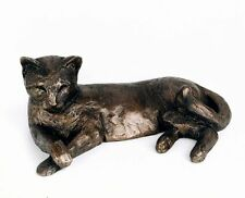 Tinkabelle the cat - cold cast bronze sculpture