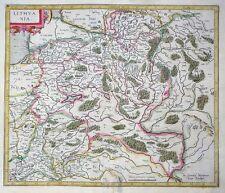 MERCATOR HONDIUS EUROPA LITHVANIA LITAUEN LETTLAND ESTLAND RUSSLAND 1606