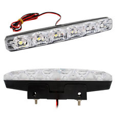 Waterproof 6 LED 12W 6000K Super Bright DRL Car Daytime Running Lights