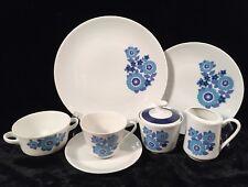 MITTERTEICH Bavaria China BLUE FLORAL MIT13 38 Pieces Service for 6