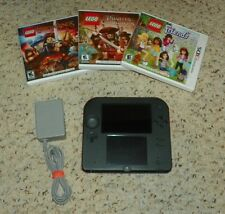 Nintendo 2DS - Red Console with Yoshi's New Island Game + 3 Lego 3DS Games