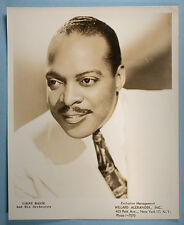 1950s Count Basie Original Promotional Studio Photo Jazz Pianist Big Bandleader