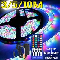 3-10M Flexible RGB 600 LED Light Strip 3528 SMD with 44 Key IR Remot