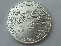 1000 escudos d Plata Portugal 2000, pesa 27 grs. Presidencia Union Europea