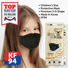 Children Kids Youths KF94 BLACK Protective Face Mask Individual Korean Packaged