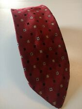 Vintage TOOTAL Tie Mens Necktie Retro Fashion SILVER QUALITY RED BLACK 50 60's